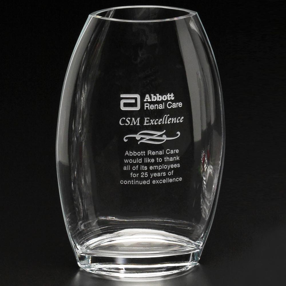 "753388567-133 - Clear Oval Vase 8-1/2"" - thumbnail"