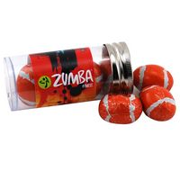 124523682-105 - Tube w/Chocolate Footballs - thumbnail