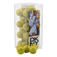 324521605-105 - Acrylic Box w/Chocolate Tennis Balls - thumbnail