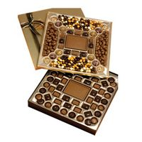 395554166-105 - 3.75 Lb. Double Layer Chocolate / Confection Gift Box - thumbnail