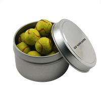 534520985-105 - Round Tin w/Chocolate Tennis Balls - thumbnail