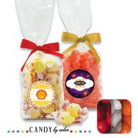 555554382-105 - French Bottom Stand Up Bags w/ Bows Filled w/ Gumball - thumbnail