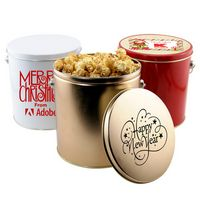55783257-105 - 1 Gallon Gift Tin w/Caramel Popcorn - thumbnail