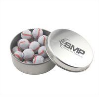 564520792-105 - Round Tin w/Chocolate Baseballs - thumbnail