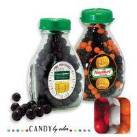 565554456-105 - Milk Pint Glass Bottle Filled w/ Gumballs - thumbnail