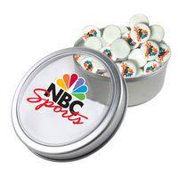 725555266-105 - Large Top View Tin - Imprinted Round Mints - thumbnail