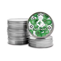 726099474-105 - Silver Tins with Custom Printed Lid - 1.5oz. Personalized M&M'S® - thumbnail