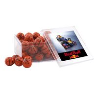 754521819-105 - Acrylic Box w/Chocolate Basketballs - thumbnail