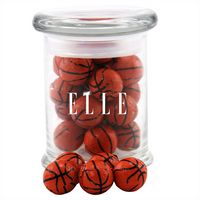 774523136-105 - Jar w/Chocolate Basketballs - thumbnail