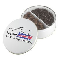 775555513-105 - Holiday Gift Tin w/Dark Chocolate Almonds & Milk Chocolate Cashews - thumbnail