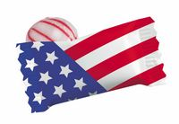 905554536-105 - Red Striped Peppermint Candy w/ Stock US Flag Wrapper - thumbnail