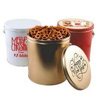 93783263-105 - 1 Gallon Gift Tin w/Pretzels - thumbnail