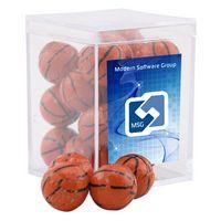 954521416-105 - Acrylic Box w/Chocolate Basketballs - thumbnail