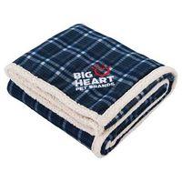 735155370-115 - Field & Co.® Plaid Sherpa Blanket - thumbnail