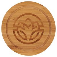 985783286-115 - Round Bamboo Coaster Set with Holder - thumbnail