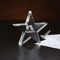 375185653-116 - Crystal Star Paperweight - thumbnail