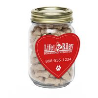 385132559-116 - Mini Dog Bones in Pint Jar w/Heart Magnet - thumbnail