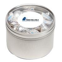 394447242-116 - Hersheys® Kisses® in Lg Round Window Tin - thumbnail