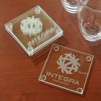 535379013-116 - Economy Glass Coaster Set - thumbnail