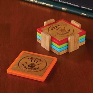 564555843-116 - Bamboo and Silicone Coaster Set - thumbnail