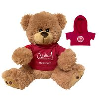 915559457-116 - Plush Bear w/ Embroidered Paws and Hoodie - thumbnail