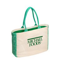 105047055-159 - Canvas Tote w/Gusset Accents - thumbnail