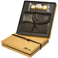 113921297-159 - Ferrero Rocher® Chocolates & Americana Leather Wrapped Journal Gift Set - thumbnail