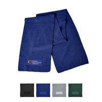126101340-159 - Acrylic Knit Scarf w/Patch - thumbnail