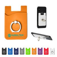 325898909-159 - Silicone Card Holder w/Metal Ring Phone Stand - thumbnail