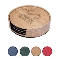 345040107-159 - Casablanca™ Cork Round Coaster Set - thumbnail