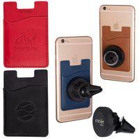 545710138-159 - Tuscany™ Magnetic Auto Phone Holder w/Pocket - thumbnail