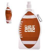 555666752-159 - HydroPouch!™ 22 Oz. Football Collapsible Water Bottle - thumbnail
