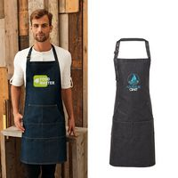 596275280-159 - Artisan Collection by Reprime Unisex Jeans Stitch Denim Bib Apron - thumbnail