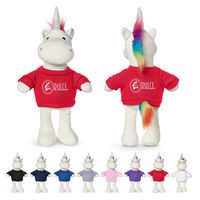 "716142766-159 - 8.5"" Unicorn Plush Toy - thumbnail"