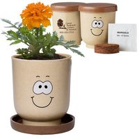 724421413-159 - Goofy Group™ Grow Pot Eco-Planter w/Marigold Seeds - thumbnail