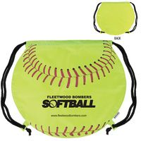 785127100-159 - GameTime!® Softball Drawstring Backpack Bag - thumbnail