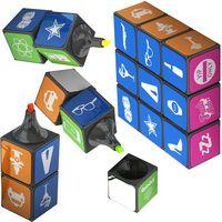 795807008-159 - Custom Rubik's® Highlighter Set w/Magnets - thumbnail