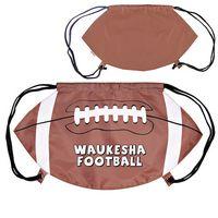 905127341-159 - GameTime!® Football Drawstring Backpack - thumbnail