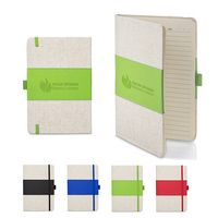 "926131344-159 - 5"" x 7"" Soft Cover PU & Heathered Fabric Journal - thumbnail"