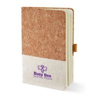 "976174865-159 - 5"" x 7"" Hard Cover Cork & Heathered Fabric Journal - thumbnail"