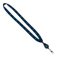 "185322433-190 - 5/8"" Tubular Polyester Dye Sublimated Lanyard w/Retractable Badge Reel - thumbnail"