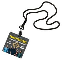 "715002974-190 - 1/8"" Economy Polyester Lanyard With Bulldog Clip & 3""x3"" Plastic Badge - thumbnail"