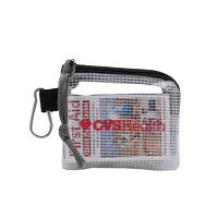 "996212618-190 - First Aid Kit in a 4.5"" x 4"" Screen Printed Zippered Clear Nylon Bag - thumbnail"