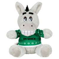"115156222-103 - 6"" Ugly Sweater Plush Donkey - thumbnail"