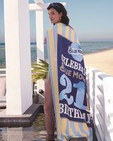 145328295-173 - Custom Striped Cabana Beach Towel (Deluxe Size) - thumbnail