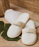 343429874-173 - Quilted Velour Slippers in Travel Bag - thumbnail