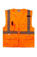 136377630-175 - Orange Surveyor Style Zip Vest - thumbnail