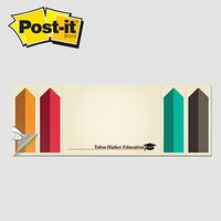 """325531702-125 - Post-it® Custom Printed Page Markers & Note Pad Combo (3""""x8"""") - thumbnail"""