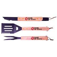 331530484-815 - Premium Wood Handle BBQ Set - thumbnail
