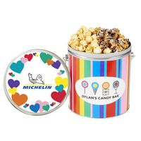 176459286-153 - Dylan's Candy Bar - Valentine's Day 1 Gallon Popcorn Tin - Kettle Corn & Dark Chocolate Swirl - thumbnail